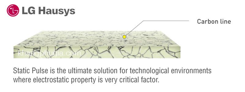 cấu tạo sàn vinyl chống tĩnh điện LG static pulse